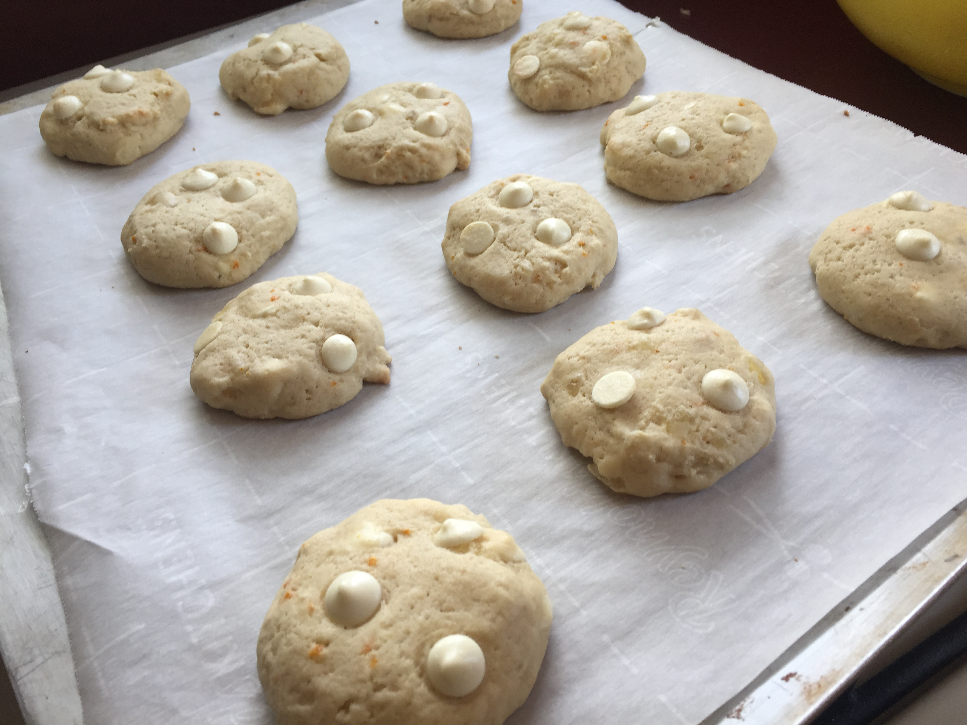 Tropical Fruit Cookies with White Chocolate Chips
