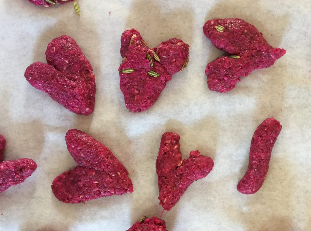 Horse treats with red beets