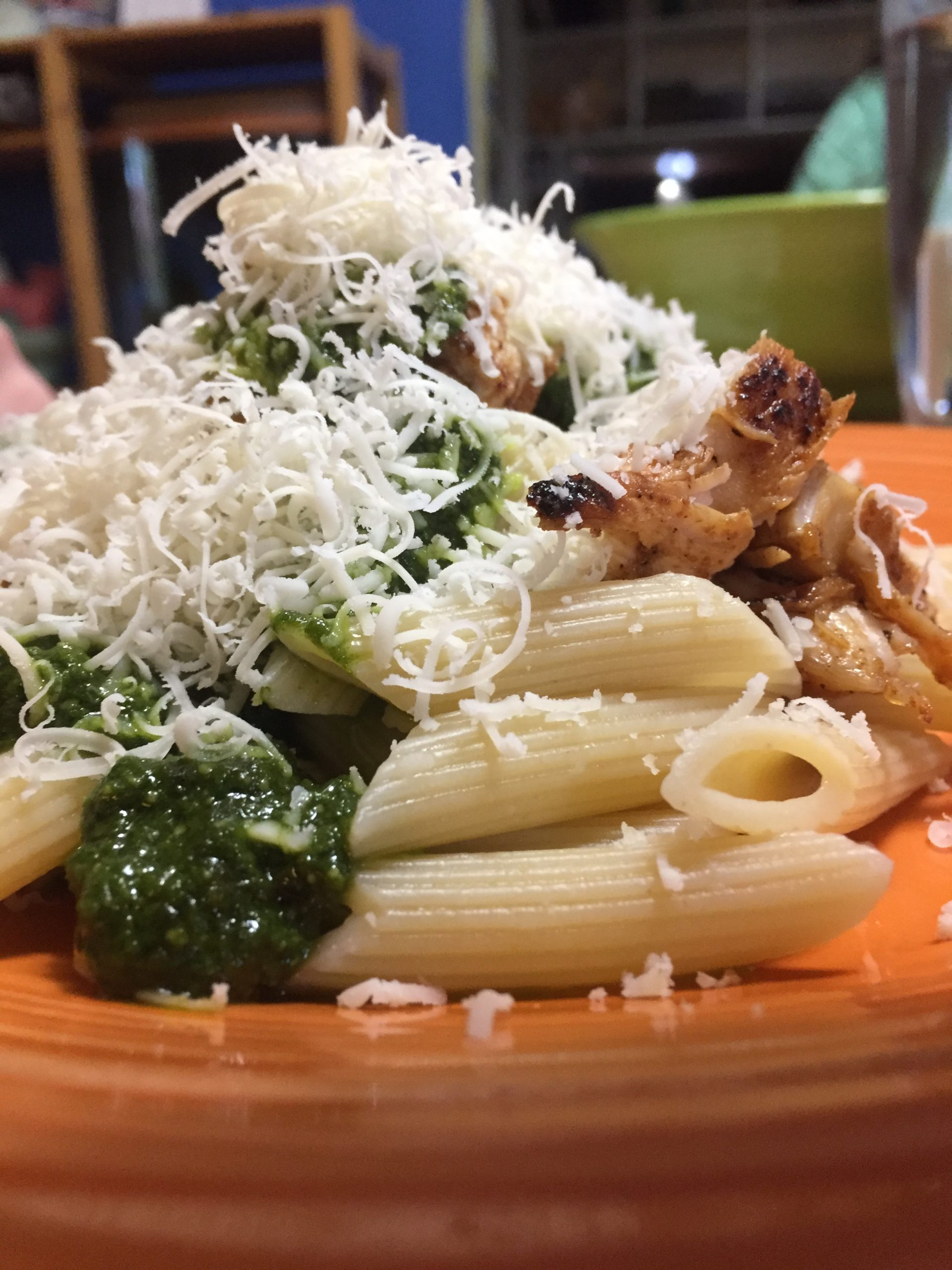 Simple Chicken and Pesto Pasta